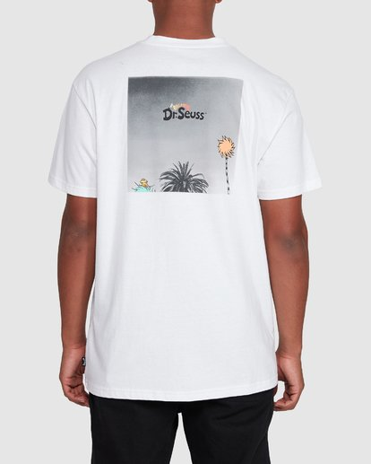 3 Dr. Seuss Truffula Photo Short Sleeve Tee White 9508063 Billabong