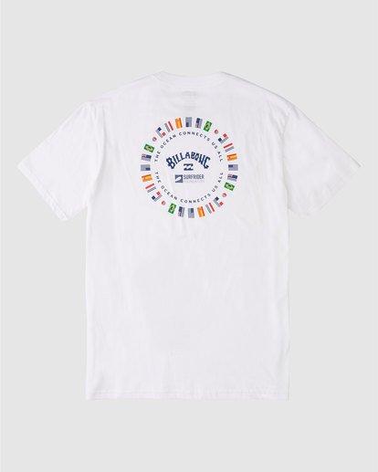 1 Surfrider World Flag Short Sleeve T-Shirt White 9508071 Billabong