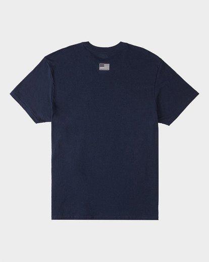 1 Surfrider Waves Short Sleeve T-Shirt Blue 9508072 Billabong