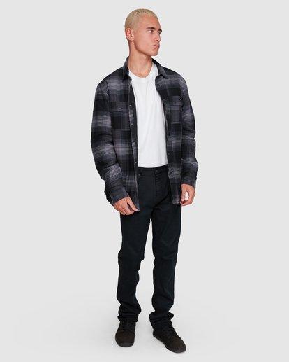 6 Nevermind Long Sleeve Flannel Shirt Grey 9508203 Billabong