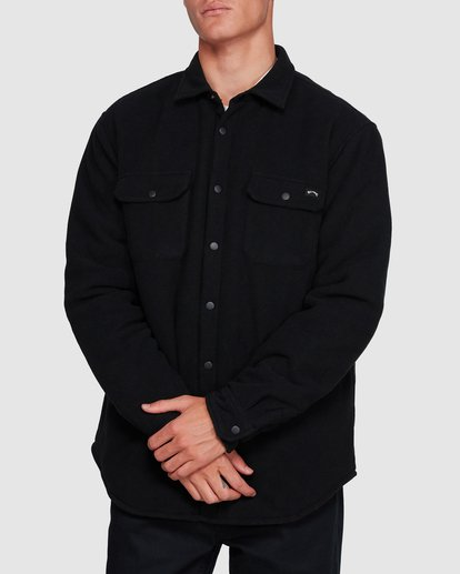 1 Nevermind Long Sleeve Flannel Shirt Black 9508203 Billabong