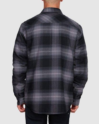 3 Nevermind Long Sleeve Flannel Shirt Grey 9508203 Billabong