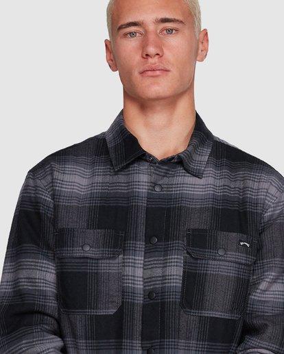 4 Nevermind Long Sleeve Flannel Shirt Grey 9508203 Billabong