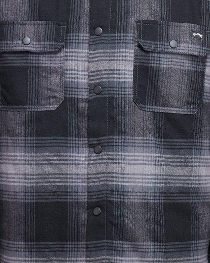 5 Nevermind Long Sleeve Flannel Shirt Grey 9508203 Billabong