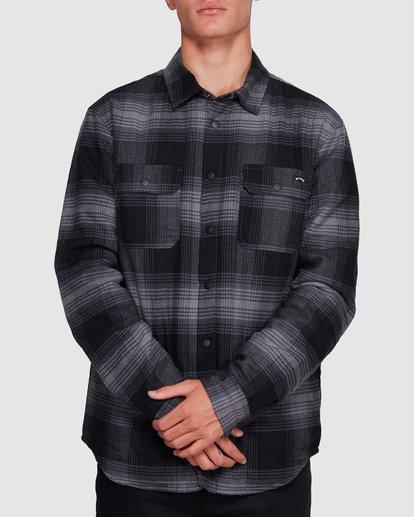 1 Nevermind Long Sleeve Flannel Shirt Grey 9508203 Billabong