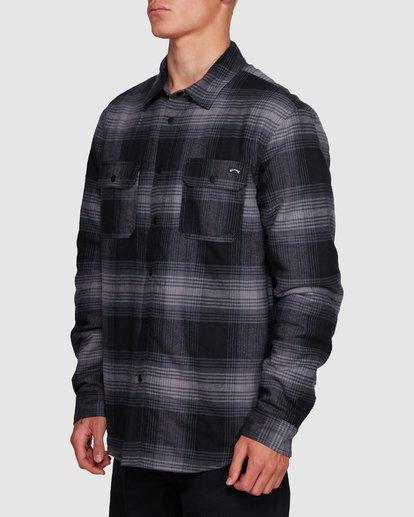 2 Nevermind Long Sleeve Flannel Shirt Grey 9508203 Billabong
