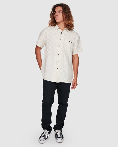 6 Sundays Jacquard Short Sleeve Shirt Beige 9508206 Billabong