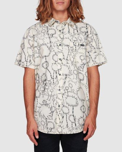 0 Dr. Seuss Truffula Short Sleeve Shirt Grey 9508220 Billabong