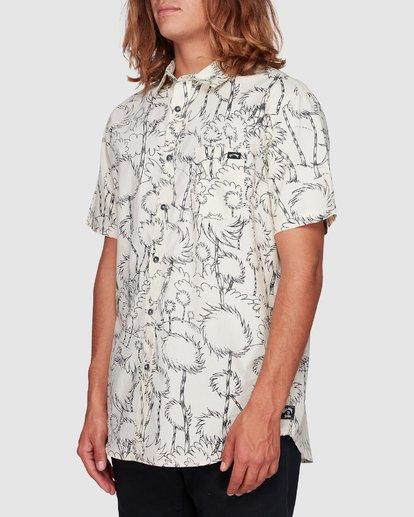2 Dr. Seuss Truffula Short Sleeve Shirt Grey 9508220 Billabong