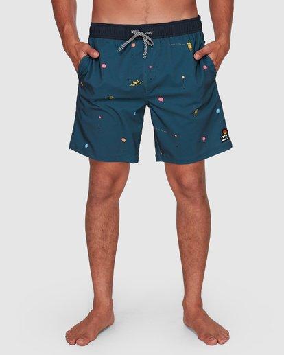 11 Dr. Seuss Lorax Mini Layback Boardshorts Grey 9508431 Billabong