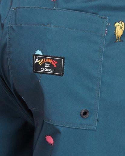 12 Dr. Seuss Lorax Mini Layback Boardshorts Grey 9508431 Billabong