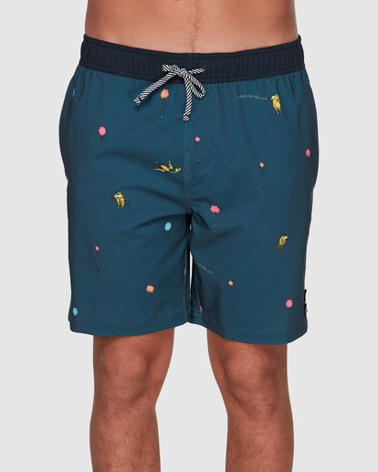 2 Dr. Seuss Lorax Mini Layback Boardshorts Grey 9508431 Billabong