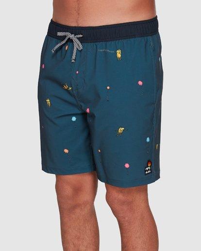 3 Dr. Seuss Lorax Mini Layback Boardshorts Grey 9508431 Billabong