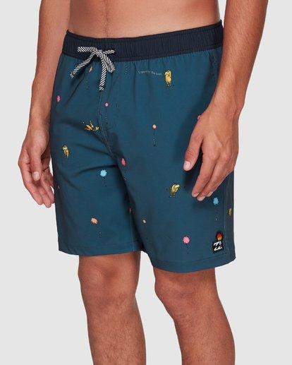 6 Dr. Seuss Lorax Mini Layback Boardshorts Grey 9508431 Billabong