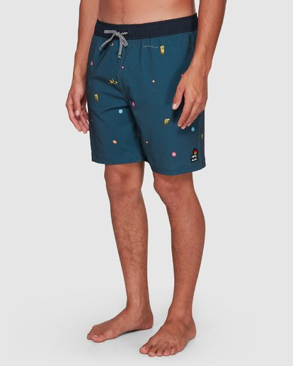 9 Dr. Seuss Lorax Mini Layback Boardshorts Grey 9508431 Billabong