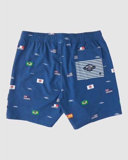 "1 Surfrider USOA Flag Layback Boardshorts 17"" Blue 9508451 Billabong"