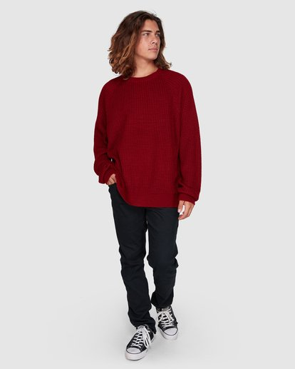 6 New Brighton Crew Knit Red 9508800 Billabong