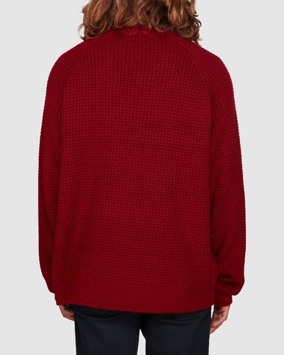 3 New Brighton Crew Knit Red 9508800 Billabong