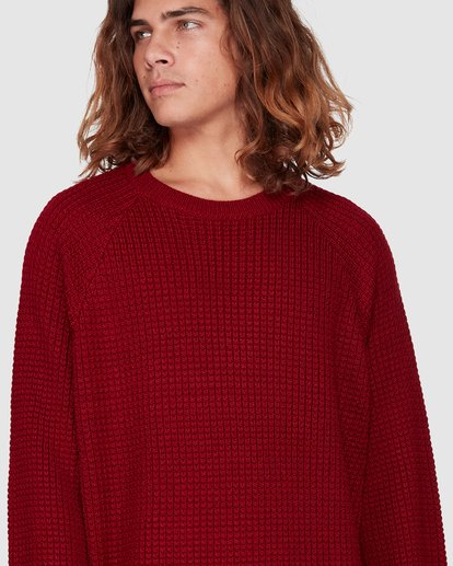 4 New Brighton Crew Knit Red 9508800 Billabong