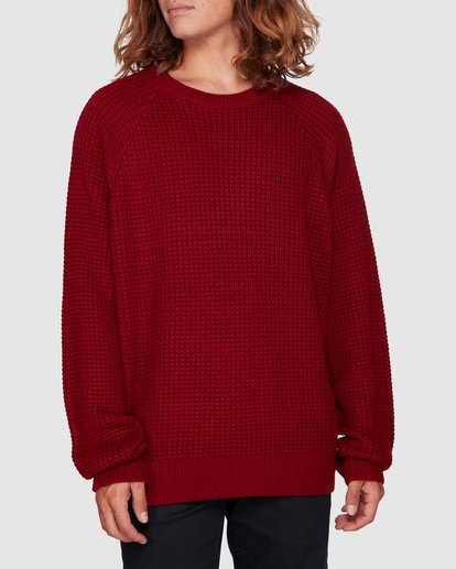 1 New Brighton Crew Knit Red 9508800 Billabong