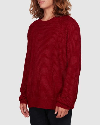 2 New Brighton Crew Knit Red 9508800 Billabong