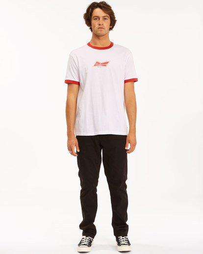 5 Budweiser Bow Ringer Short Sleeve T-Shirt White 9513009 Billabong