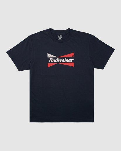 6 Budweiser Flag Short Sleeve T-Shirt Blue 9513010 Billabong