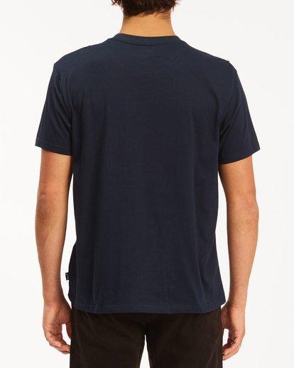 3 Budweiser Flag Short Sleeve T-Shirt Blue 9513010 Billabong