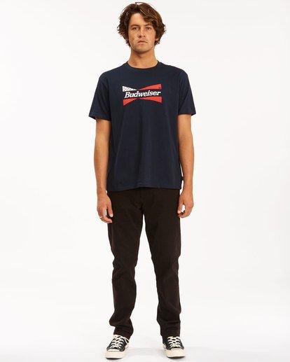 5 Budweiser Flag Short Sleeve T-Shirt Blue 9513010 Billabong