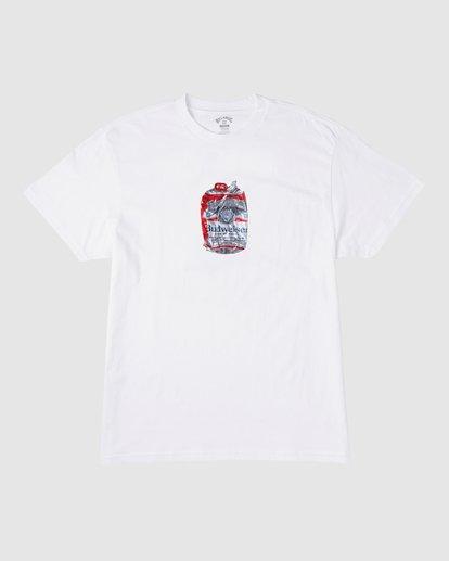 7 Budweiser Crusher Short Sleeve T-Shirt White 9513011 Billabong