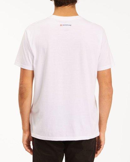 3 Budweiser Crusher Short Sleeve T-Shirt White 9513011 Billabong