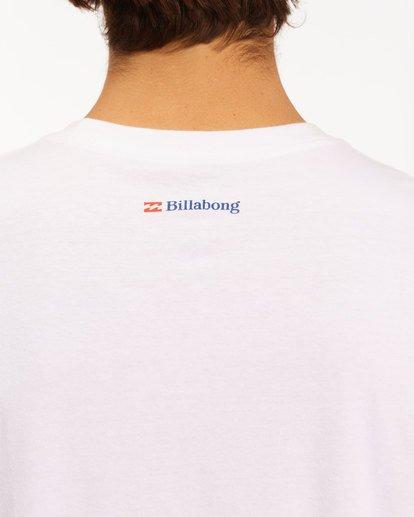 5 Budweiser Crusher Short Sleeve T-Shirt White 9513011 Billabong