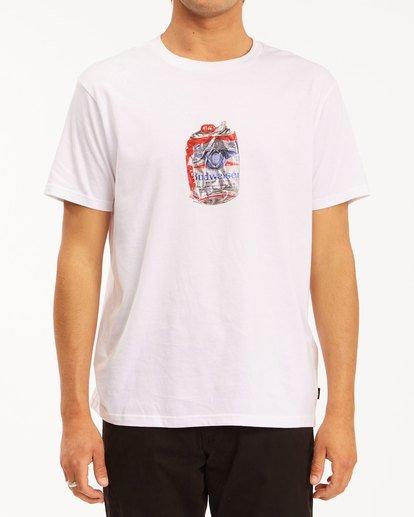 1 Budweiser Crusher Short Sleeve T-Shirt White 9513011 Billabong