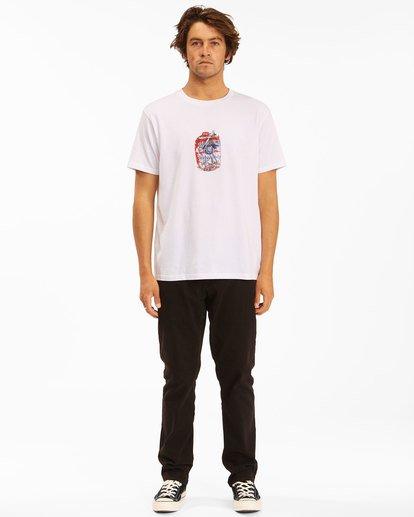 6 Budweiser Crusher Short Sleeve T-Shirt White 9513011 Billabong