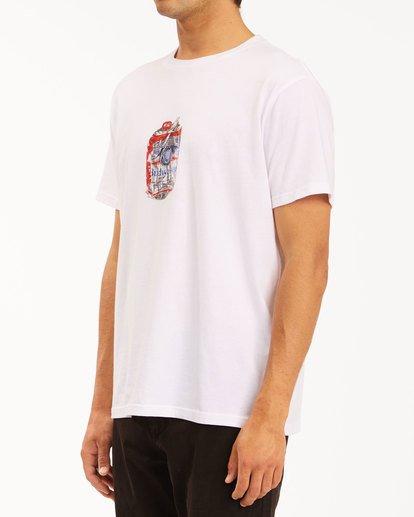 2 Budweiser Crusher Short Sleeve T-Shirt White 9513011 Billabong