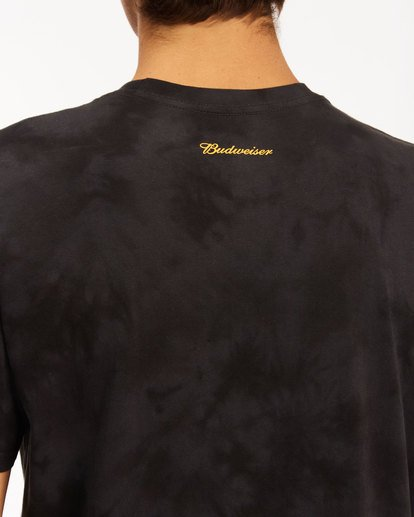 4 Budweiser Bow Tie-Dye Short Sleeve T-Shirt Black 9513012 Billabong