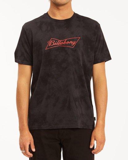 0 Budweiser Bow Tie-Dye Short Sleeve T-Shirt Black 9513012 Billabong