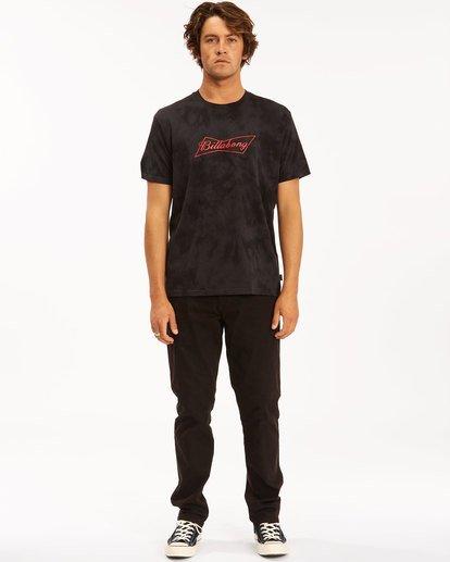 5 Budweiser Bow Tie-Dye Short Sleeve T-Shirt Black 9513012 Billabong