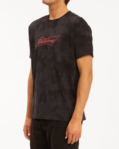 1 Budweiser Bow Tie-Dye Short Sleeve T-Shirt Black 9513012 Billabong