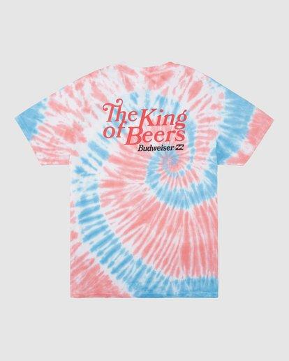 8 Budweiser King Of Beers Tie-Dye Short Sleeve T-Shirt White 9513013 Billabong
