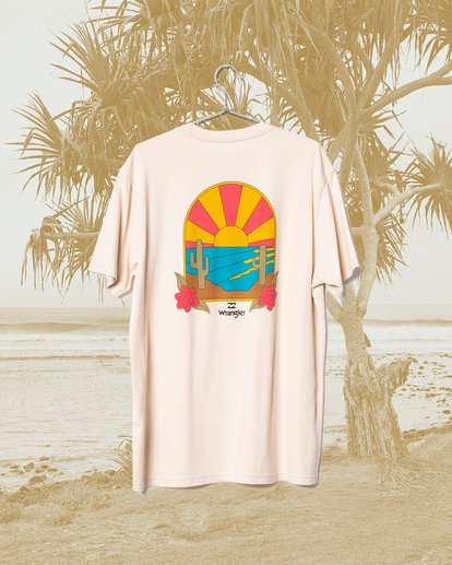 2 Wrangler Saguaro Short Sleeve Tee Beige 9513016 Billabong