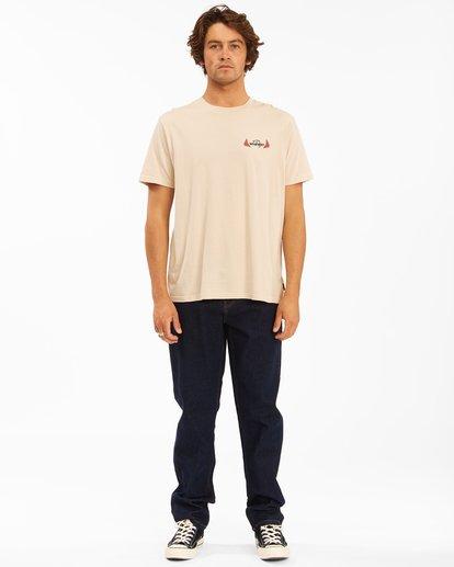 7 Wrangler Saguaro Short Sleeve Tee Beige 9513016 Billabong