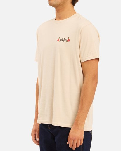4 Wrangler Saguaro Short Sleeve Tee Beige 9513016 Billabong