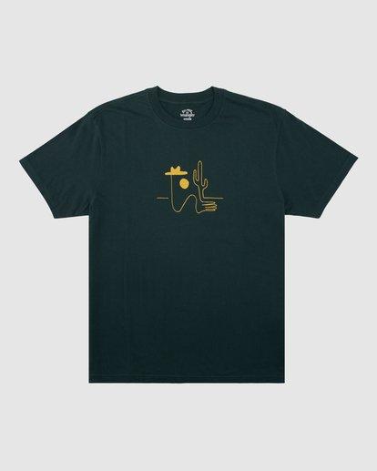 5 Wrangler Sleepwalker Short Sleeve Tee Green 9513019 Billabong