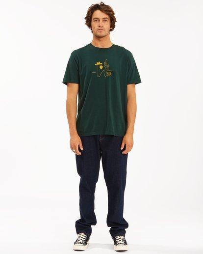 4 Wrangler Sleepwalker Short Sleeve Tee Green 9513019 Billabong