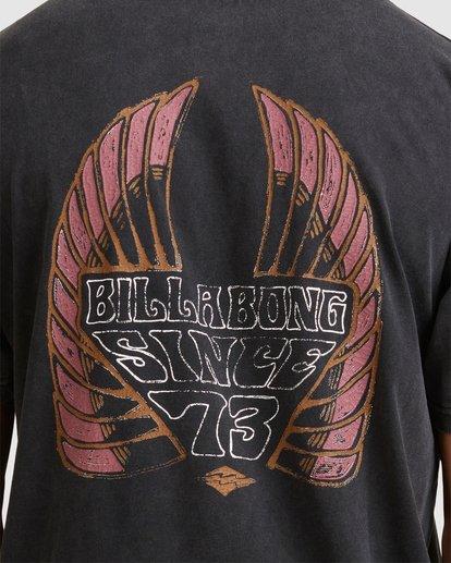 3 Free Rider Short Sleeve Tee Black 9513025 Billabong