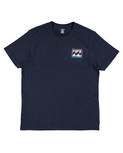 4 Crayon Wave Short Sleeve Tee Blue 9513042 Billabong