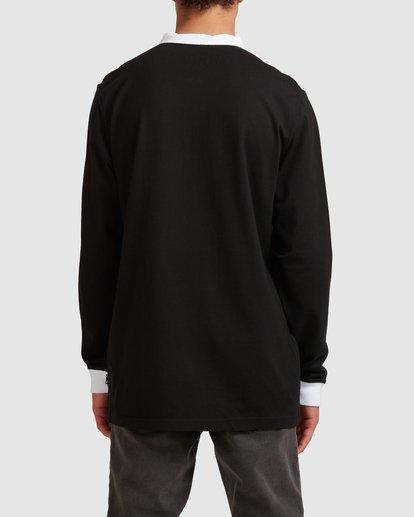 2 Thiccness Long Sleeve Polo Black 9513172 Billabong