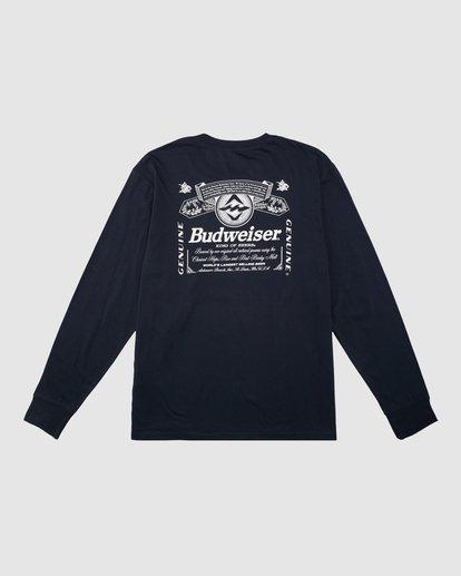 8 Budweiser Insignia Long Sleeve T-Shirt Blue 9513180 Billabong