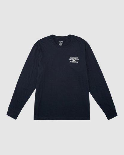 7 Budweiser Insignia Long Sleeve T-Shirt Blue 9513180 Billabong